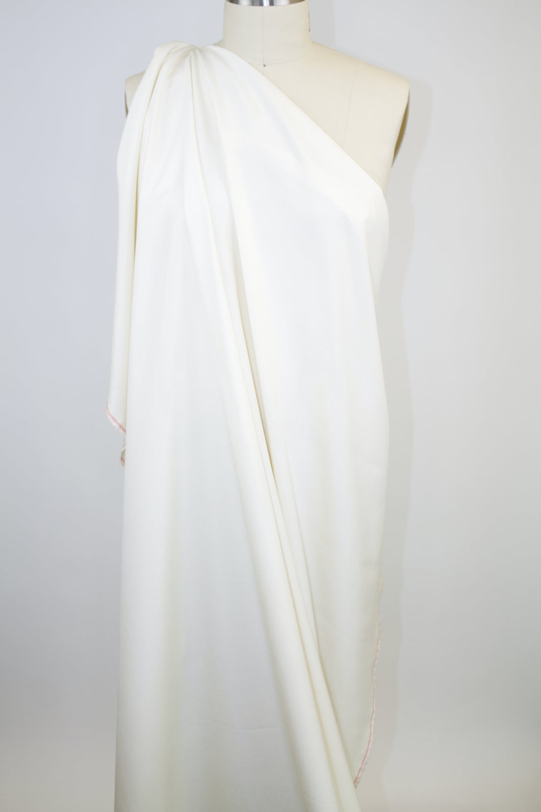 Italian Silk/Cotton Shirting - Whisper White