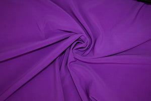 NY Designer Scuba Double Cloth - Royal Purple/Black