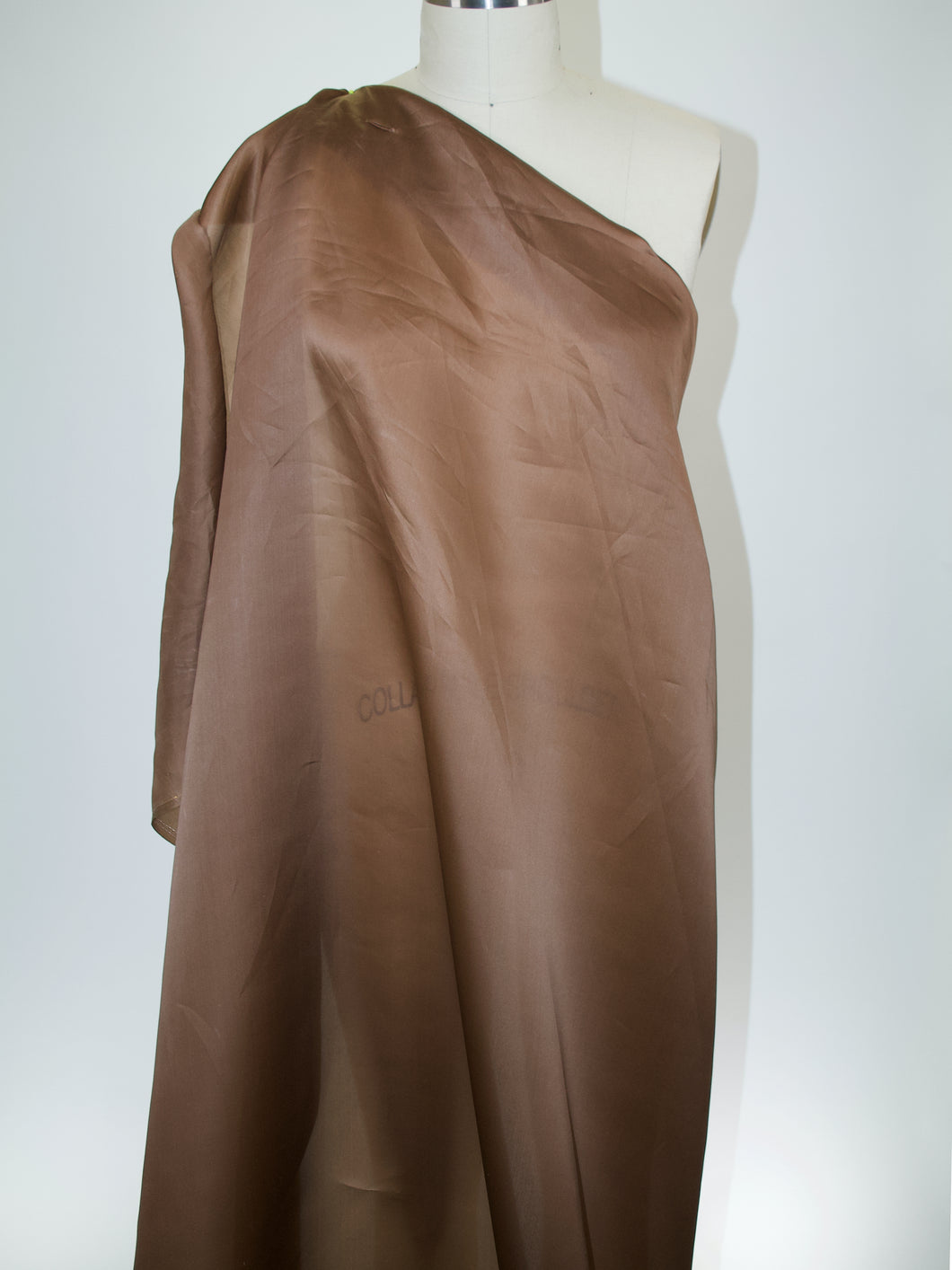 2 1/4 yards of Satin Faced Organza - Milk Chocolate