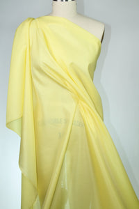 Satin Faced Organza - Spring Yellow