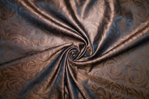 7/8 yard of A Rose by Any Other Name Reversible Silk Jacquard Organza - Browns