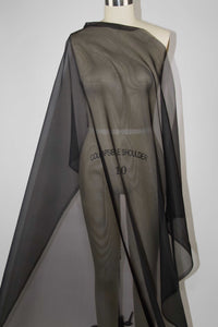 54 Inch Wide Silk Organza - Black