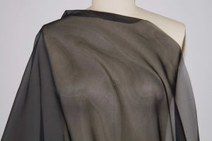 54 Inch Wide Calamo Silk Organza - Black