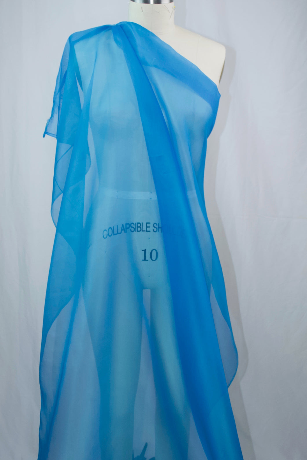 Italian Silk Organza - Bright Blue