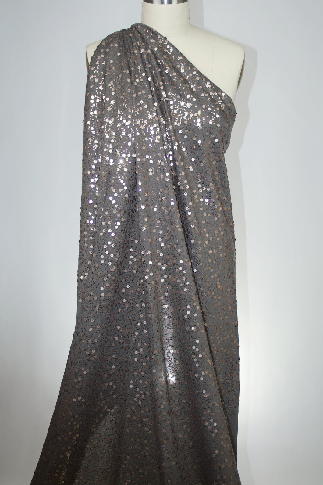 Sequined Rayon Jersey - Taupe/Soft Gold