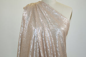 NY Bridal Designer Mini Sequined Mesh - Cameo