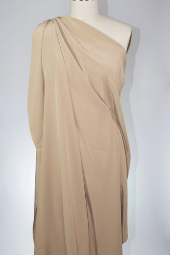 1 yard of Sueded Stretch Silk Crepe - Tan