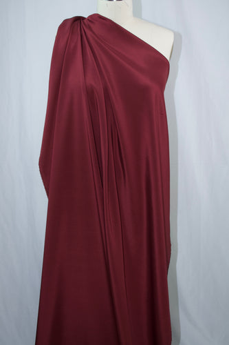 3-Ply Stretch Silk Crepe - Burgundy