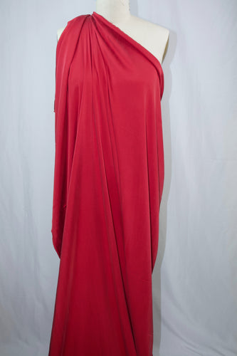 Italian Stretch Silk Charmeuse - True Red