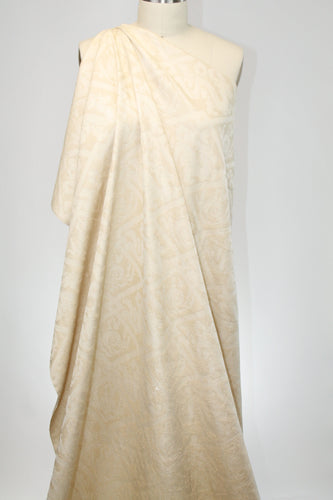 Paris Designer Silk Jacquard Suiting - Rich Ivory