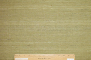 Italian Raw Silk Suiting - Brilliant Olive