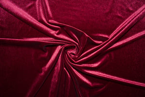 Designer Stretch Velvet - Burgundy