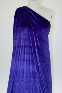 Designer Stretch Velvet - Blue Iris