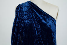 NY Designer Stretch Panné Velvet - Princess Blue
