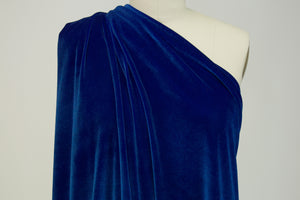 LA Designer Stretch Velvet - Royal Blue