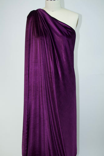 Designer Stretch Velvet - Royal Purple