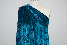 NY Designer Stretch Panné Velvet - Deep Bright Teal