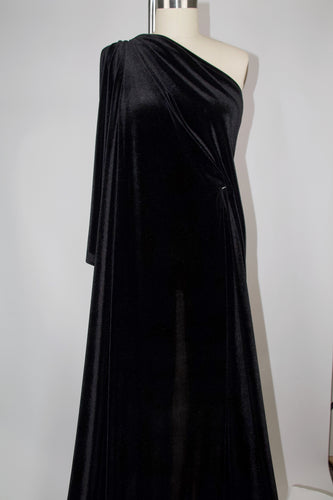 Designer Stretch Velvet - Black