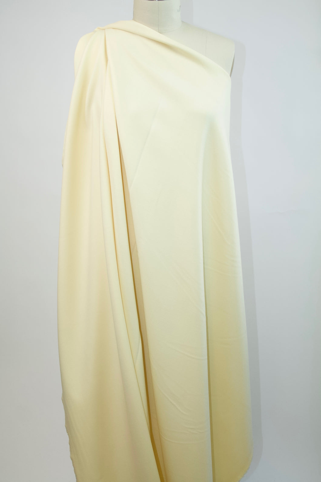 English Designer Stretch Double Faced Wool Crepe - Vanilla Custard