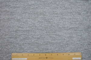 1 yard of Glisten, Did You Hear? Sweater Knit - Grays/Silver/White