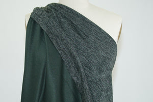 Glisten, Did You Hear? Sweater Knit - Olive/Grays/Silver