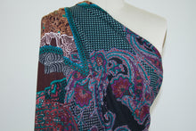 Bold Scaled Paisley Sweater Knit - Multi
