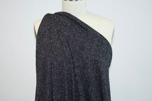 Silver City NY Designer Lightweight Sweater Knit - Black/Silver