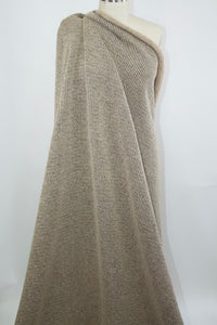 Haute Italian Designer Chunky Wool Sweater Knit - Oatmeal Heather