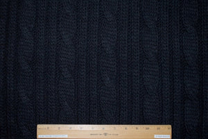 Italian Cashmere Blend Chunky Cable Knit - Black