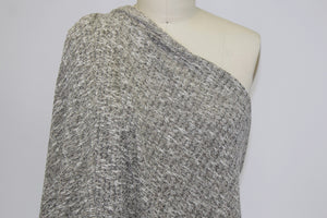 Italian Cotton Sweater Knit - Natural/Black