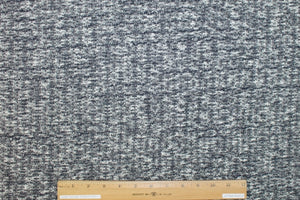 1 yard of Italian Cotton Sweater Knit - Black/White/Navy