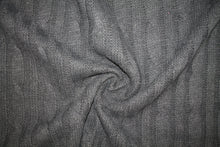 1 3/4+ yards of Italian Haute Designer Cable Knit Wool/Mohair Sweater Knit - Charcoal