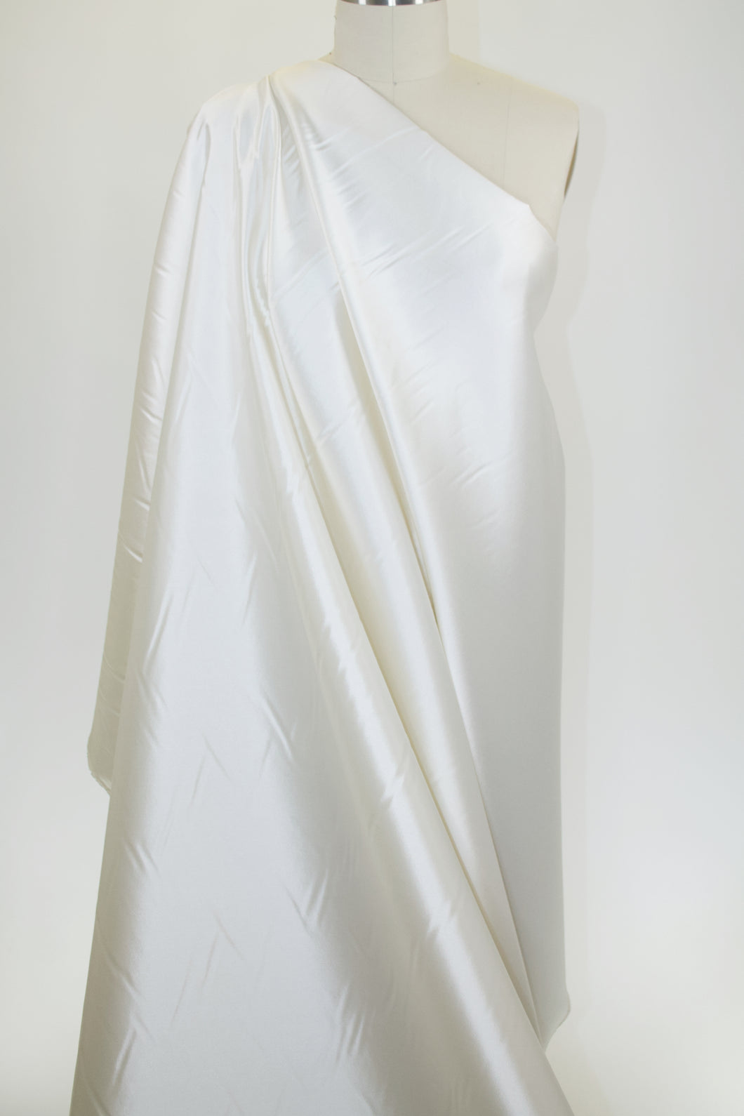 Silk/Wool Satin Twill - Ivory