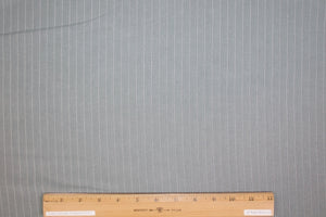 Pinstriped Eco-Friendly Tencel Mid-weight - Gray/White