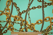 1 ¾ yards of Chain Chain Chain Techno Crepe Finish Knit - Golds/Mint