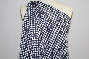 Houndstooth Techno Knit - Black/White