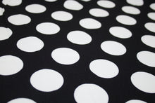 Dotty About This Polka Dot Crepe Finish Techno Knit - Off-White on Black
