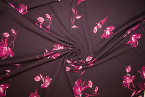 Raining Lilies Techno Knit - Red Tones