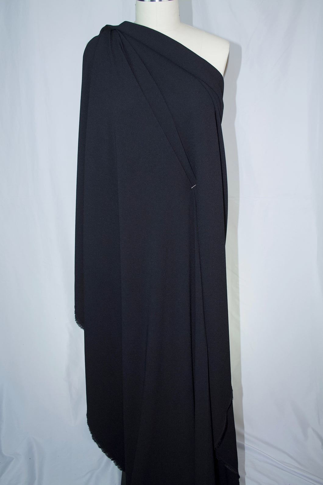 Italian Stretch Wool Crepe - Black