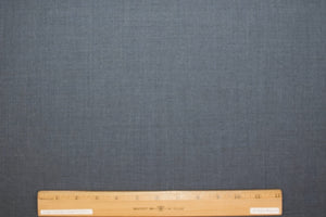 Italian Wool Double Cloth - Denim Blue/White