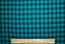 Italian Selvage Wool Checked Flannel - Green/Black