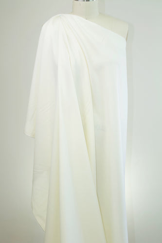¾+ yard of Italian Wool Gabardine - Winter White