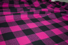Woolrich Medium Check Wool Flannel - Pink/Black