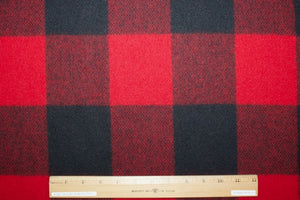 Woolrich Buffalo Plaid Wool Flannel - Bright Red/Black