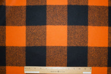 Woolrich Buffalo Plaid Wool Flannel - Orange/Black