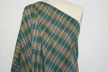 Br!oni Italian Plaid Wool (!!!) Shirting - Green/Red/Gold/Blue/Brown