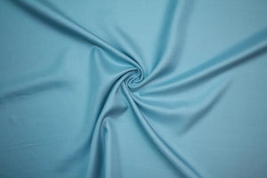 Italian Soft Silk/Wool Satin - Soft Blue