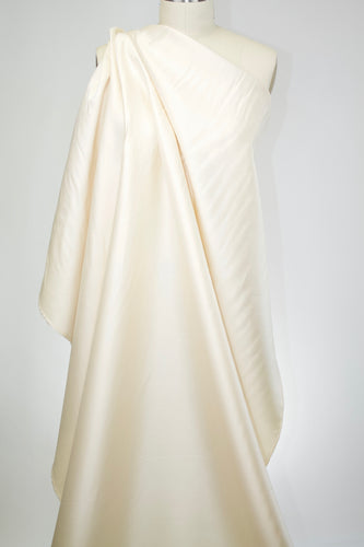 Italian Soft Silk/Wool Satin - Rich Cream