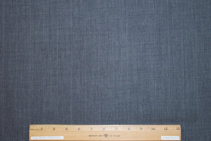 Pinstriped Italian Tropical Weight Wool - Banker's Gray/White