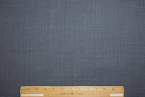 Australian Selvage Wool Tiny Check Wool Suiting - Blues/White